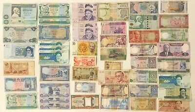 51 x Mixed Banknote Collection - MIDDLE EAST.  (3308)