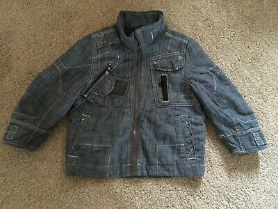 Boys Next Denim Lined Jacket Size 3 years Old