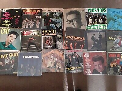 Job lot assorted and collectable 1960s  vinyl lp records x 18