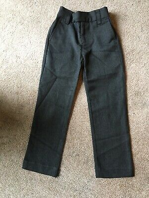 Next Boys Slim Fit Grey School Trousers Age 5 x5 Pairs