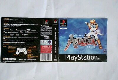 The Adventures of Alundra PlayStation RPG inlay / insert game artwork only PS 1