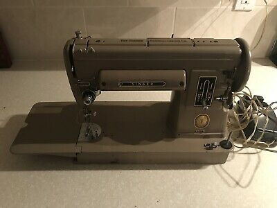 Perfect Working Vintage Singer 301A Sewing Machine With Foot Pedal And Case