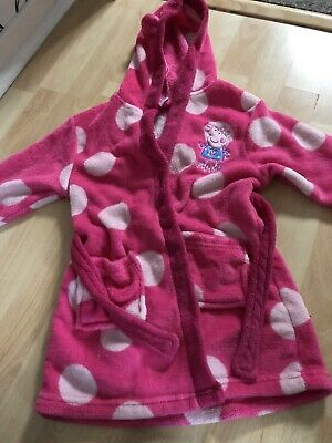 Girls Peppa Pig Dressing Gown Age 2/3 Years