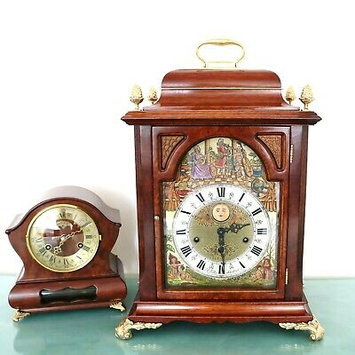 CHRISTIAAN HUYGENS Vintage Mantel Clock TRIPLE! CHIME MOVING FEATURES! Moonphase