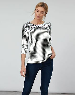 Joules Women Harbour Print   Long Sleeve Jersey Top Shirt  in