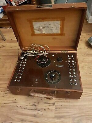 Vintage  Large Ship Owners Refrigerated Cargo W.g Pye Instrument In Wooden Case
