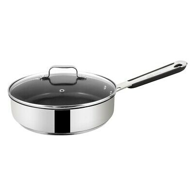 Jamie Oliver by Tefal Everyday 25cm Saute Pan Induction Non-Stick with Glass Lid