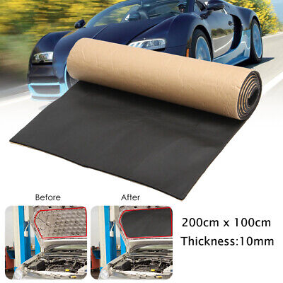 2m Roll Car Sound Proofing Noise Heat Insulation Foam Self Adhesive 10mm Thick
