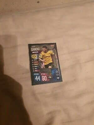 Topps Match Attax CL Card 19/20 Jadon Sancho Silver Limited Edition . Mint LE2S