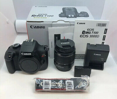Canon EOS Rebel T100 /EOS 4000D DSLR Black Camera 18MP w/ 18-55mm Lens NEW OTHER