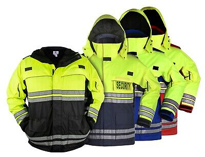 First Class High Visibility Waterproof Parkas with Reflective Striping
