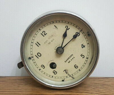 VINTAGE GARRARD No.443 MARK V ADY:PATT No.810 AIRPLANE CLOCK