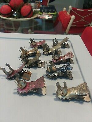 10 Antique Christmas Tree Candle Holders
