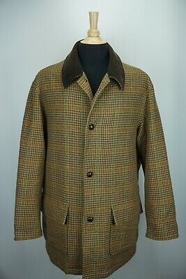 Brooks Brothers Outerwear Multicolor Plaid Woven Wool Tweed Jacket Sz L