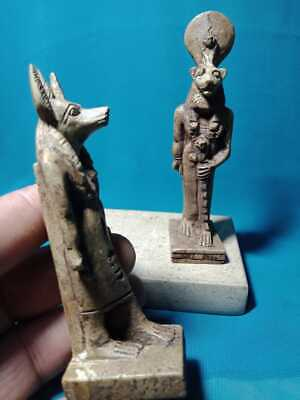 The ancient Egyptian god Sekhmet and Anubis