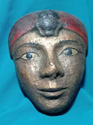The face of a beautiful Pharaonic princess, a rare piece. Wood