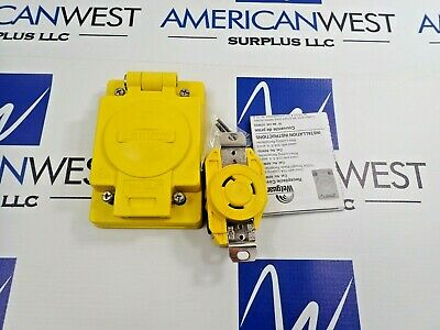 Leviton 67W47 San 070 Receptacle With Wetguard Ip 66 Cover 20A 125V L5-20R New