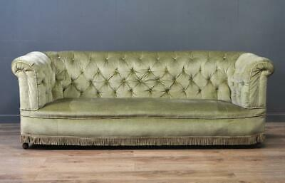 Attractive Large Antique Upholstered Chesterfield Sofa Couch Settee