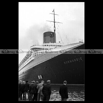 #php.03778 Photo PAQUEBOT SS NORMANDIE FRENCH LINE 1938 LE HAVRE OCEAN LINER
