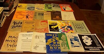 15 Vintage Magic Trick Booklets Rope Handkerchief Silk Ball+ Tricks Books Lot #3