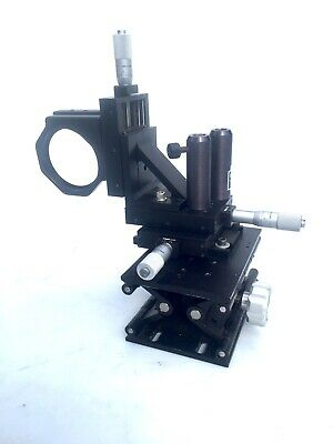 THORLABS XY STAGE w/ Z STAGE and LENS HOLDER  ON NEWPORT 270 LAB JACK MITUTOYO