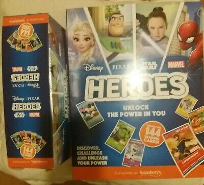 x Sainsburys Disney Heroes Cards & And a new  album Approx 180 Packs