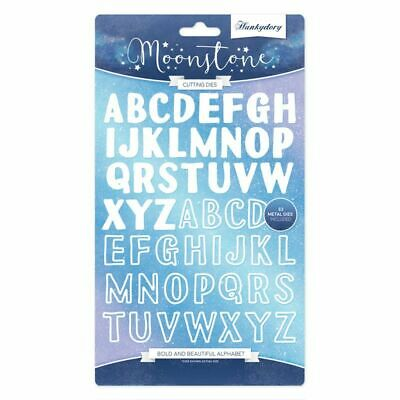 Hunkydory Moonstone - Bold & Beautiful Alphabet Die Set - 52 Dies - MSTONE165