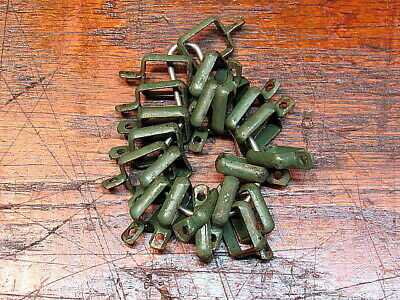 21 Vintage Metal Cafe Curtain Rod Clips Rings Hardware