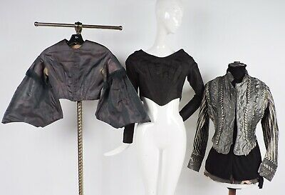 Antique Victorian 1830'S 1860'S 1870'S Bodice Lot For Dress Study