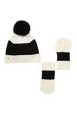 NWT kate spade new york stripe beanie & box glove set $98