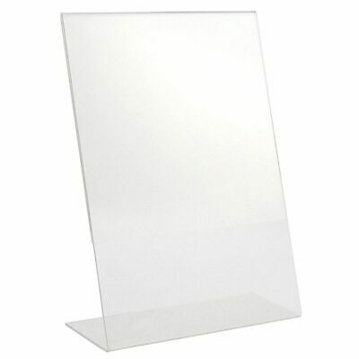 Acrylic Sign Holder Slant Back Stand for Title Display Ad Frame Home Letter Size