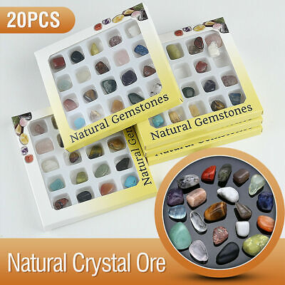 20pcs Crystal Gemstone Reiki Polished Healing Chakra Stone Collection Jewelry