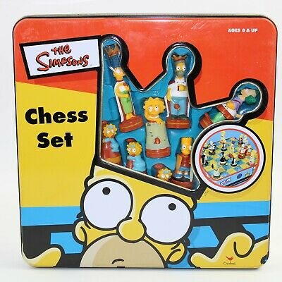 The Simpsons Chess Set Cardinal 100% Official Complete Ages 8+