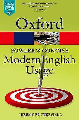 Fowler's Concise Dictionary of Modern English Usage (Paperback book, 2016)