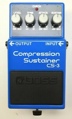 BOSS CS-3 Compression Sustainer Guitar Effects Pedal 1989 #67 Free Shipping