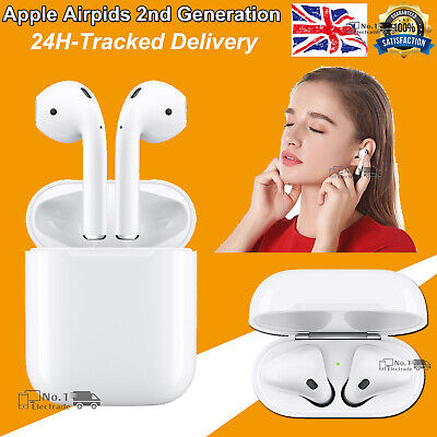 Apple AirPods 2nd Generation Heaphone wireless + Charging Case - White Sealed UK