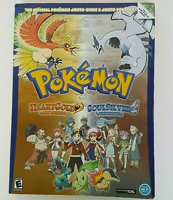 Official POKEMON JOHTO GUIDE POKEDEX Heartgold & Soulsilver Version Nintendo DS