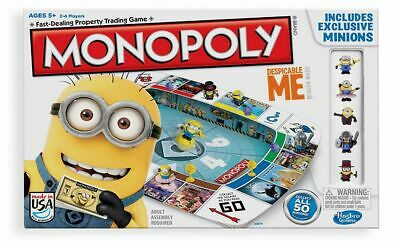 Monopoly Despicable Me Edition - New Hasbro Minions Family Board Game Party Gift