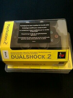 SONY DualShock 2 SEALED Official Genuine Analog PS2 Controller Playstation Black