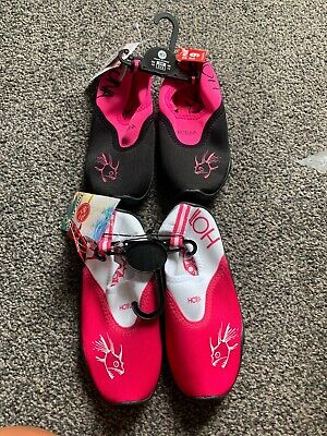 Two Pairs Of Girls Swim Shoes