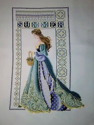 Lavendar & Lace - Celtic Summer - completed cross stitch