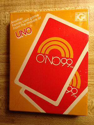 O'NO 99 card game from UNO 1982 International Games new still factory sealed