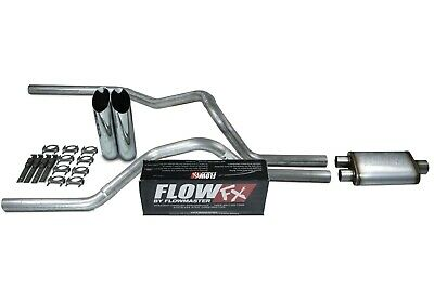 """Ford F-150 04-14 2.5/"""" Dual Exhaust Kits Y pipe Black Tips Corner Exit"""