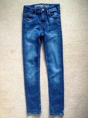 Jeans age 12 Super skinny extreme flex H&M boys adjustable waist denim blue