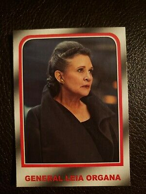2019 Topps Journey To Star Wars: The Rise Of Skywalker General Leia Organa