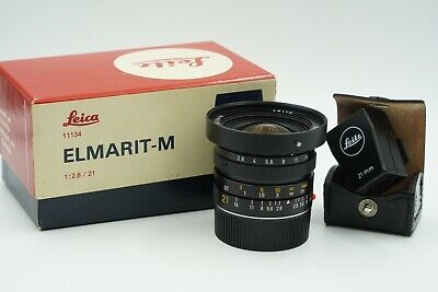 Leica Elmarit-M 21mm f/2.8 Lens with Leitz Viewfinder - Excellent Condition!