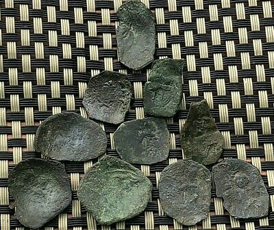 Lot Of 10 Coins Latin Rules Of Constantinople 1204-1261Ad Ae Trachy Small Module