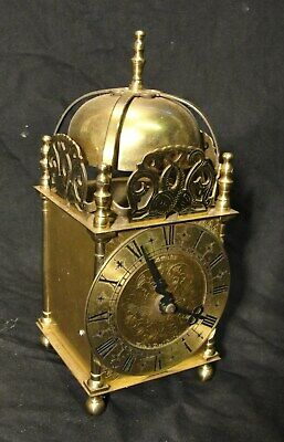 """VINTAGE SOLID BRASS """"LANTERN"""" CLOCK by SMITHS in jolly good condition"""