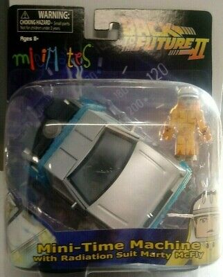 MINIMATES BACK TO THE FUTURE II MINI TIME MACHINE W// RADIATION SUIT MARTY MCFLY