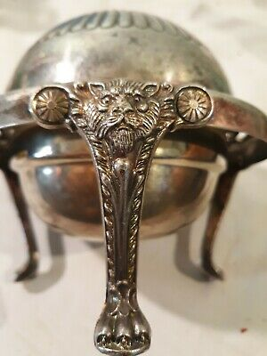 FB Rogers Bros Silver Co 1883 3 Footed Butter Dish sugar bowl 273 ashtray server